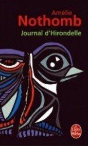 Journal d'Hirondelle d'Amélie Nothomb dans Avis littéraires couv24768019-181x300
